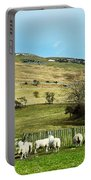 Sheep In Meadow Portable Battery Charger