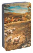 Sheep In October's Field Portable Battery Charger