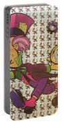 Sheet Of Mad Hatter Blotter Acid Portable Battery Charger by Science Source