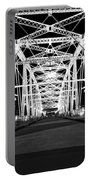 Shelby Street Bridge At Night In Nashville Portable Battery Charger