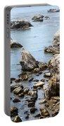 Shell Beach Rocky Coastline Portable Battery Charger