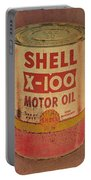 Shell Motor Oil Portable Battery Charger by Michelle Calkins
