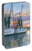 Shem Creek Shrimpers Charleston  Portable Battery Charger