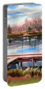 Shepherd Mountain Lake In Winter Portable Battery Charger