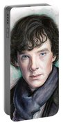 Sherlock Holmes Portrait Benedict Cumberbatch Portable Battery Charger