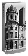 Shibe Park In Black And White Portable Battery Charger