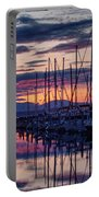 Shilshole Olympic Mountains Sunset Portable Battery Charger