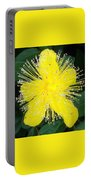 Shimmer Yellow Flower Portable Battery Charger
