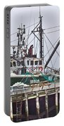 Ship Docked In Lunenburg-ns Portable Battery Charger