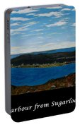 Ship Harbour From Sugarloaf Hill - Historic Town - Atlantic Charter Portable Battery Charger