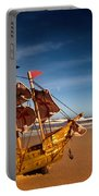 Ship Model On Summer Sunny Beach Portable Battery Charger