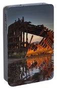 Shipwreck At Sunset Portable Battery Charger