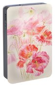 Shirley Poppies Portable Battery Charger
