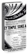 Shirley Temple Song Album Portable Battery Charger