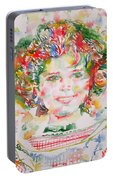 Shirley Temple - Watercolor Portrait.1 Portable Battery Charger