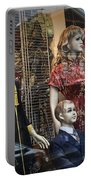 Shop Window Display Of Mannequins Portable Battery Charger