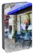 Shopfront - Music And Coffee Cafe Portable Battery Charger