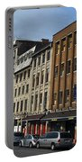 Shops And Buildings Along Rue Saint-paul Old Montreal Portable Battery Charger