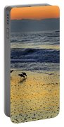 Shorebirds At Dawn Portable Battery Charger