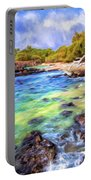 Shoreline At Puako Portable Battery Charger