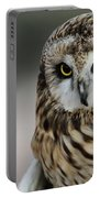 Short Eared Owl Portrait Portable Battery Charger