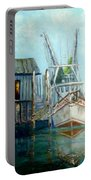 Shrimp Boat Paintings Portable Battery Charger