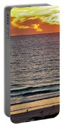 Shrimp Boats And Gulls Over Sea Of Cortez At Sunset From Playa Bonita Beach-mexico Portable Battery Charger