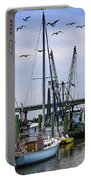 Shrimp Boats At Lazaretto Creek Portable Battery Charger