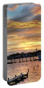 Shrimp Boats At Sunset Portable Battery Charger by Benanne Stiens