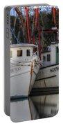 Shrimp Boats Reflecting Portable Battery Charger