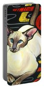 Siamese Cat On A Cushion Portable Battery Charger