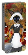 Siamese Queen Of Thanksgiving Portable Battery Charger