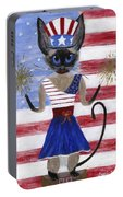 Siamese Queen Of The U S A Portable Battery Charger