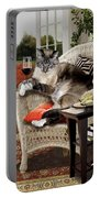 Funny Pet A Wine Bibbing Kitty  Portable Battery Charger