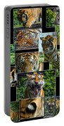 Siberian Tiger Collage Portable Battery Charger