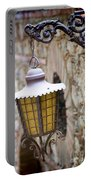 Sicilian Village Lamp Portable Battery Charger by David Smith