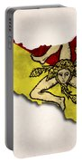 Sicily Map Art With Flag Design Portable Battery Charger