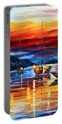 Sicily Messina Portable Battery Charger by Leonid Afremov