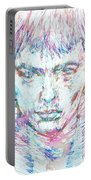 Sid Vicious - Colored Pens Portrait Portable Battery Charger