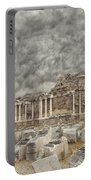 Side Nymphaeum Fountain Ruins Portable Battery Charger