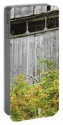 Side Of Barn In Fall Portable Battery Charger