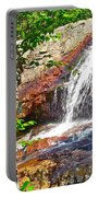 Side View Of Southeast Brook Falls In Gros Morne Np-nl Portable Battery Charger