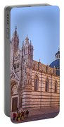 Siena Duomo At Sunset Portable Battery Charger by Liz Leyden