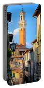 Siena Streets Portable Battery Charger by Inge Johnsson