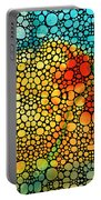 Siesta Sunrise - Stone Rock'd Art Painting Portable Battery Charger