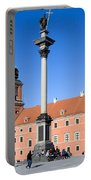 Sigismund's Column And Royal Castle In Warsaw Portable Battery Charger