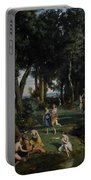 Silenus Portable Battery Charger by Jean Baptiste Camille Corot