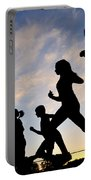 Silhouette Female Runners Portable Battery Charger