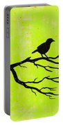 Silhouette Green Portable Battery Charger