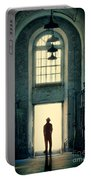 Silhouette In Doorway Portable Battery Charger